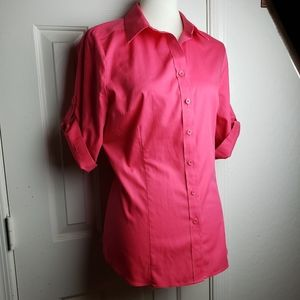 Coldwater Creek 3/4 Sleeve No Iron Blouse
